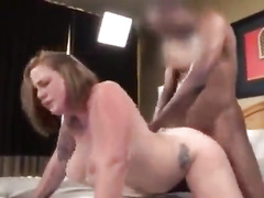 Busty Blonde Tattooed Wife BBC Interracial Cuckold Riding