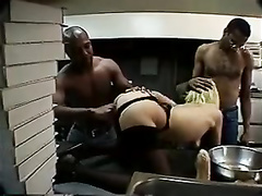 Cheating wife does her duty as slut having threesome anal sex