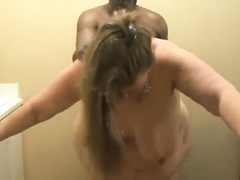 White boy's BBW mom gets fucked by BBC